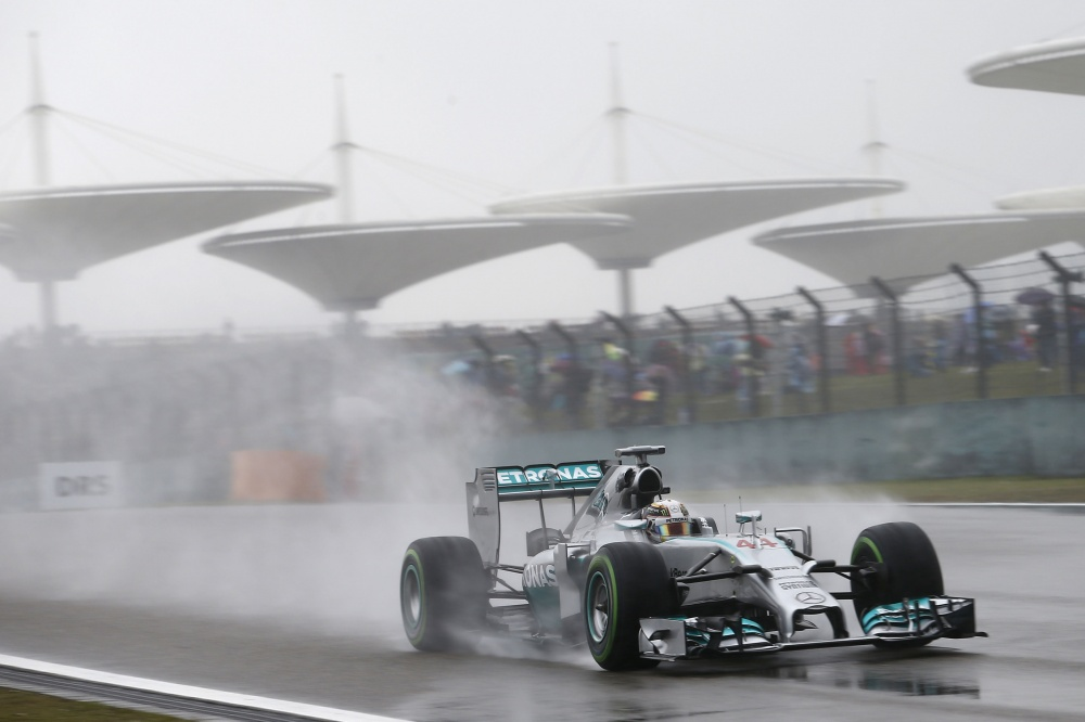 Bild: Formel 1, 2014, China, Hamilton, Pole